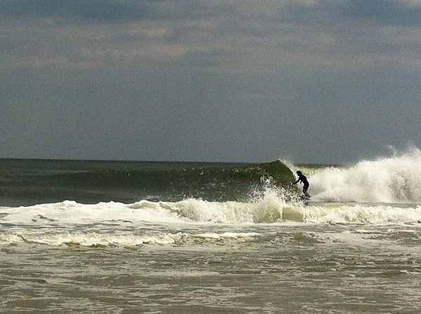 NJ  5-3-14 Just me surfing. Girlfriend Snapped it.