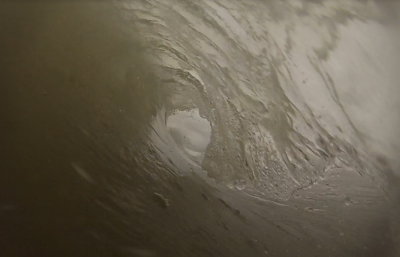 my first barrel shot with my gopro Thigh-Stomach high