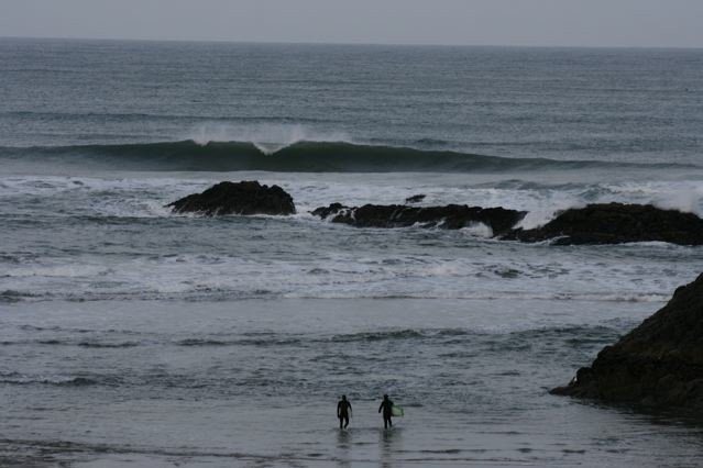 2 guys out. Oregon, Surfing photo