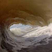 Jax Beach barrel. jax. North Florida, Empty Wave photo