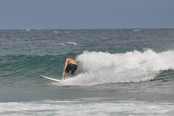 Pete Shreds A solid swell popped up this morning.