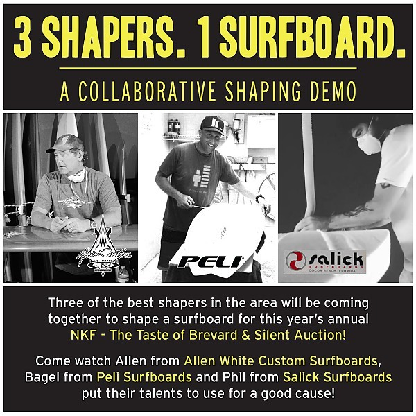 3 Shapers. 1 Surfboard. A Collaborative Shaping Demo Allen
