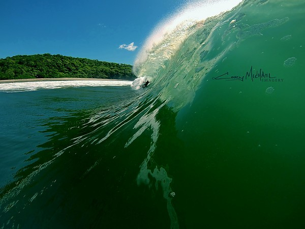 Backdoor section. Nicaragua, Surfing photo