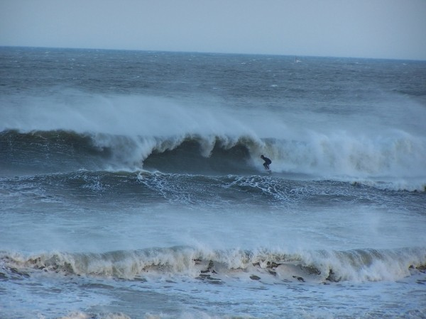 the oceanic pier last sunday April 15 Offshore winds