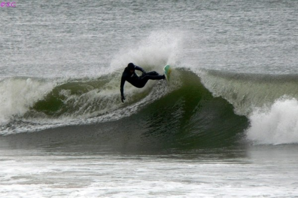 022810 Jamie Bashing the Lip. Delmarva, Surfing photo