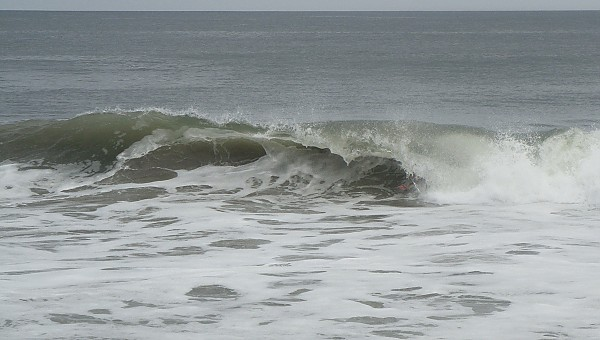 9/16/2012 - Body-surfing OCMD Waving to the camera
