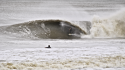 Hurricane Irene Surf Sam Hammer geting spat out after