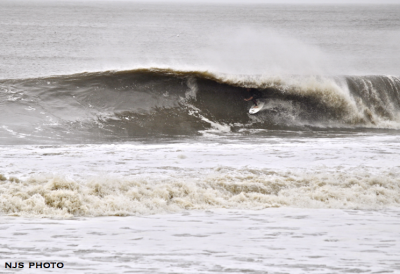 Hurricane Irene Surf Unknown getting pitted.