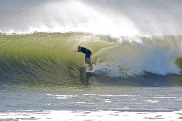 Earl Tube Dan-o pulling in.. New Jersey, Surfing photo