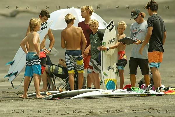 Coaching Day One of our International Surf Services/Erik