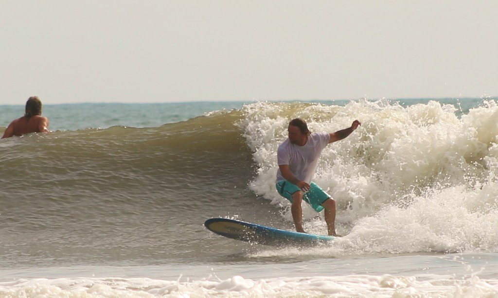 Me surfing Jacksonville end the Florence swell