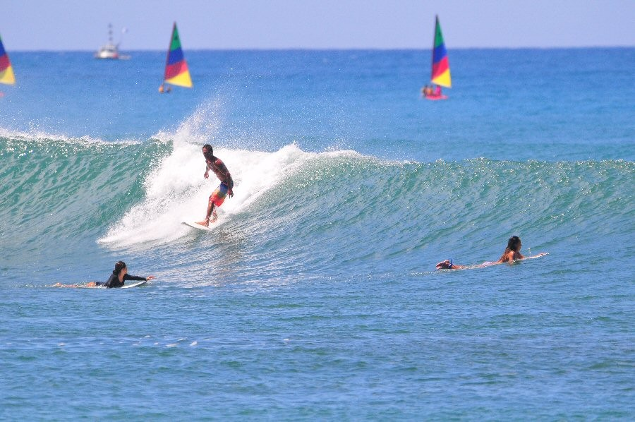 Description. Ala Moana Bowls, surfing photo