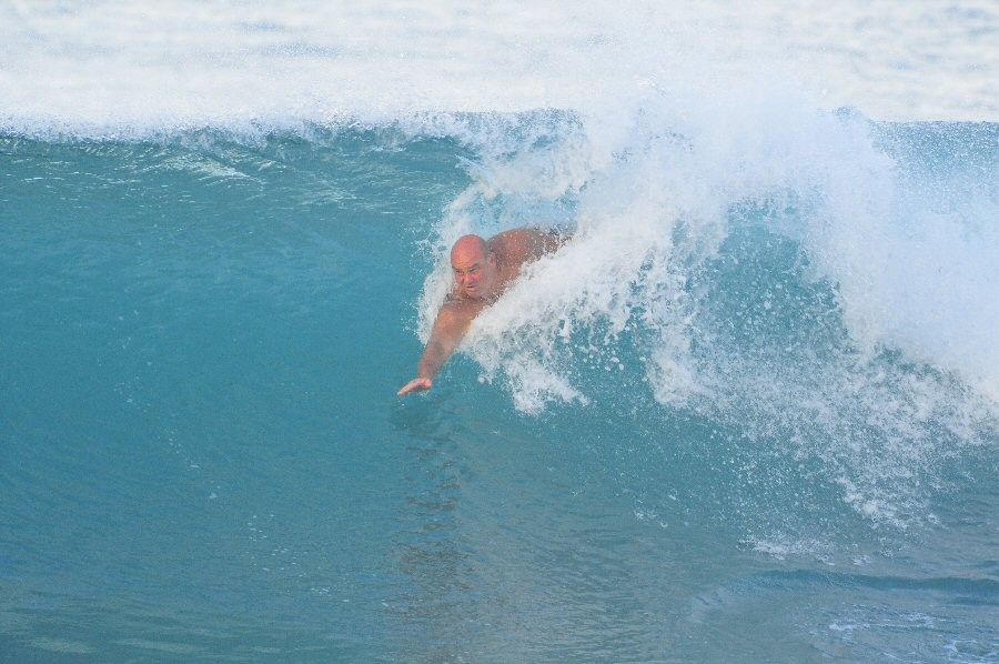 Pt. Panic, Oahu, surfing photo