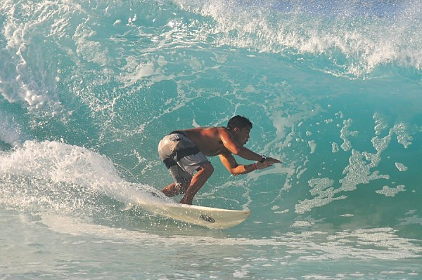 Sandy Beach, Oahu Monday, August 18, 2014. United States, Surfing photo