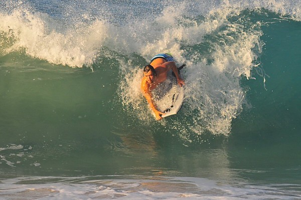 Sandy Beach, Oahu Wednesday, August 20, 2014. United States, Bodyboarding photo
