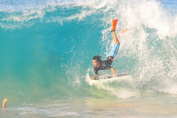 Sandy Beach, Oahu Tuesday, August 12, 2014. United States, Bodyboarding photo