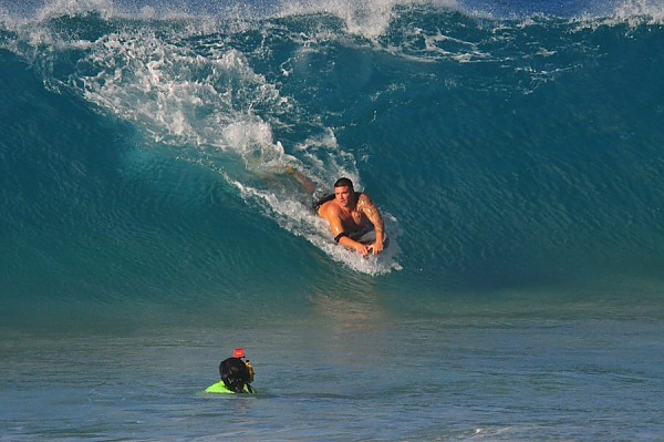 Sandy Beach, Oahu Wednesday, August 13, 2014. United States, Bodyboarding photo