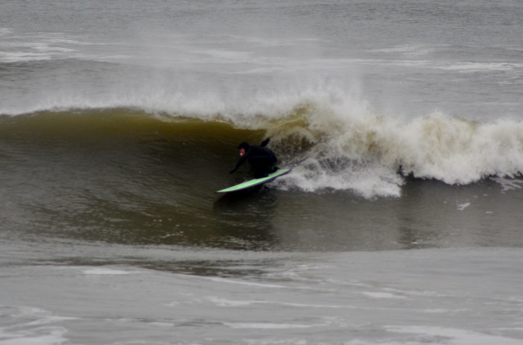 Kevin DeWald going right. New Jersey, surfing photo