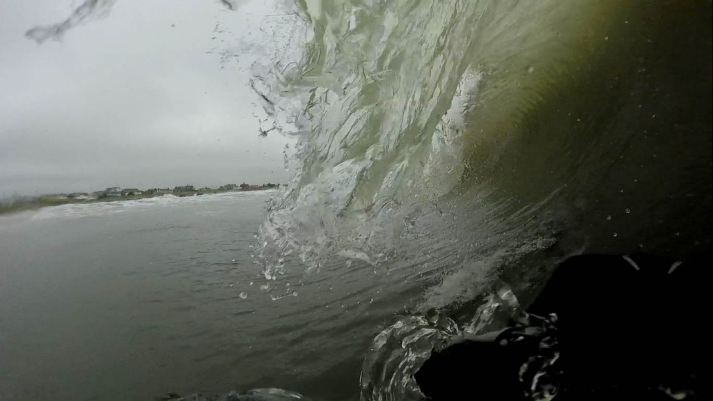 Barreling in Ocean City, NJ from the Hurricane Ophelia