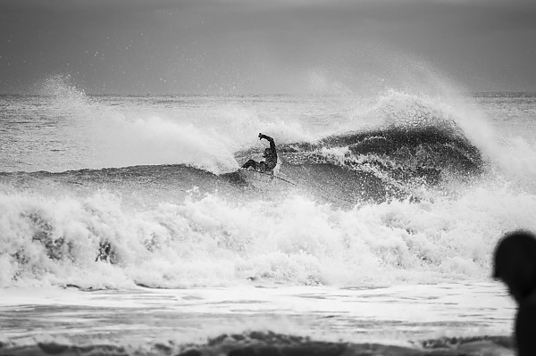 Power Surfer in Monmouth County doing a big turn