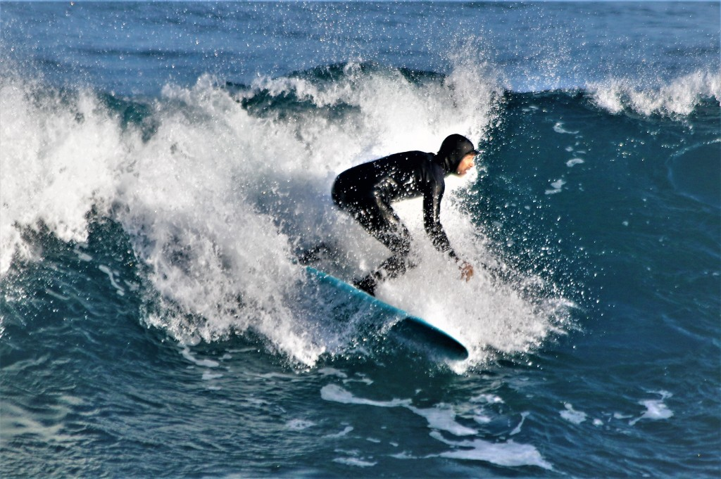 Super high tide, favorable current.. Central California, Surfing photo