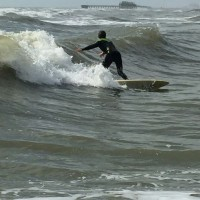 knee to waist funnn. North Texas, Surfing photo