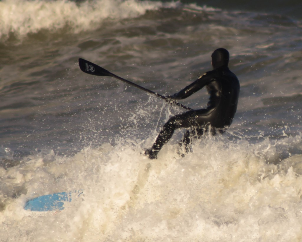 SUP on Nauset Beach, Orleans, MA 3/29/2015