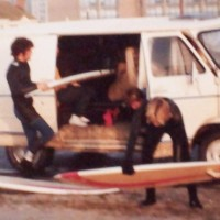 1970s surfing christmas eve at the Jetty Va.Beach