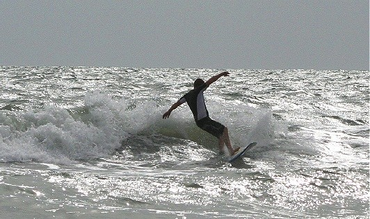 Aug. 2nd 2007. West Florida, surfing photo