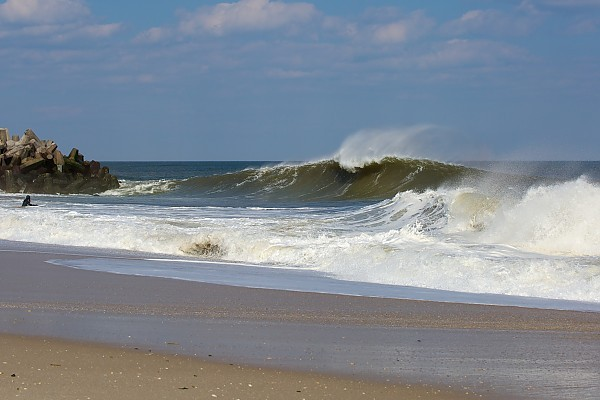Juicing Spring Equinox Swell in New Jersey.  You can