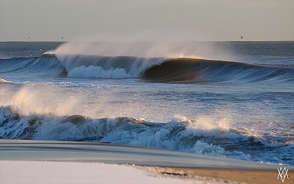 Valentines Day Swell Shot in NJ during a blustery,