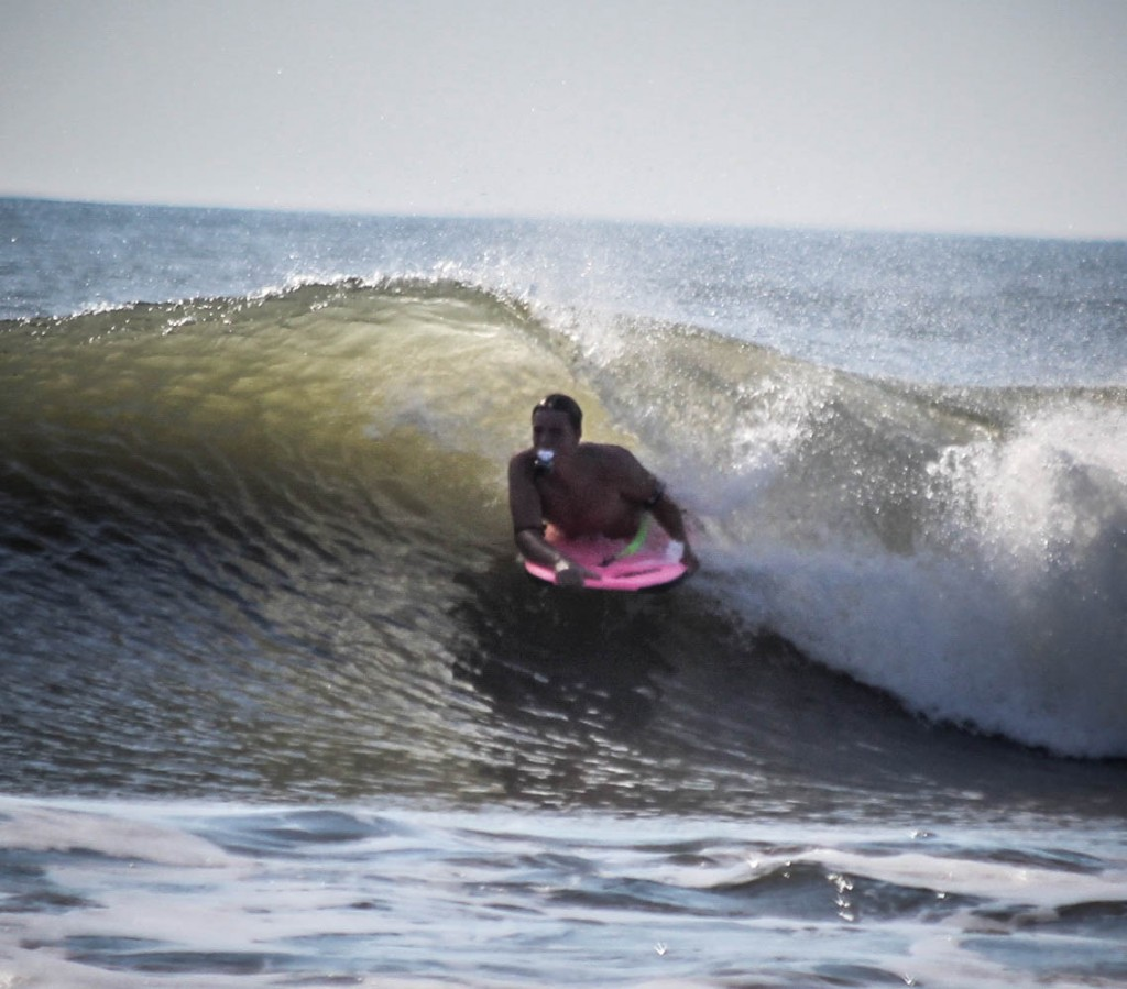 September 24th bodyboarding in Chincoteague island.