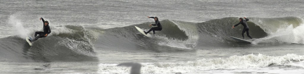 January crowds at Mid-Town OCM. Delmarva, surfing photo