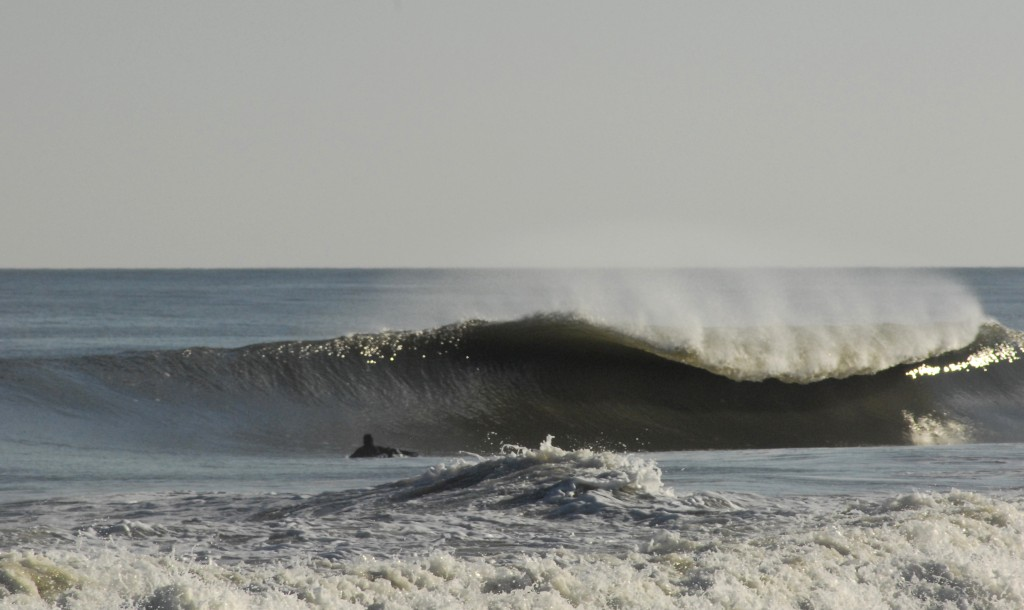 A classic day with light offshores with mild temps