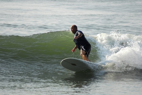 Chris Hazard Fun waves. Delmarva, surfing photo