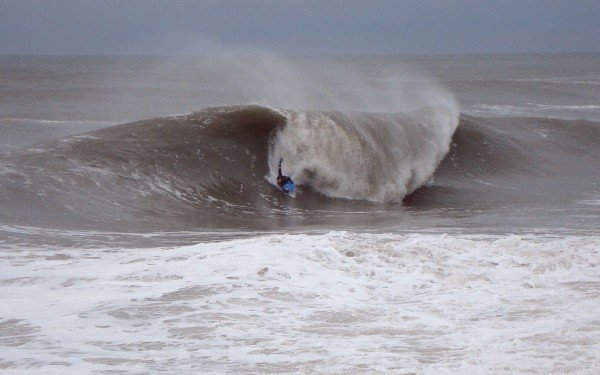 12-16-2007. Delmarva, surfing photo
