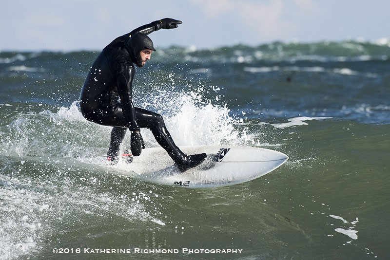 On the crest. Northern New England, Surfing photo