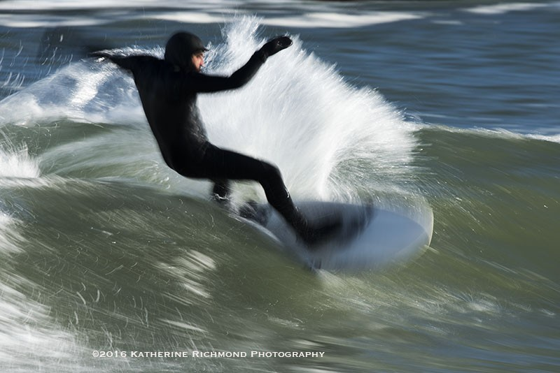 Carving a turn. Northern New England, Surfing photo