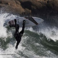 Airborne turn. Northern New England, Surfing photo