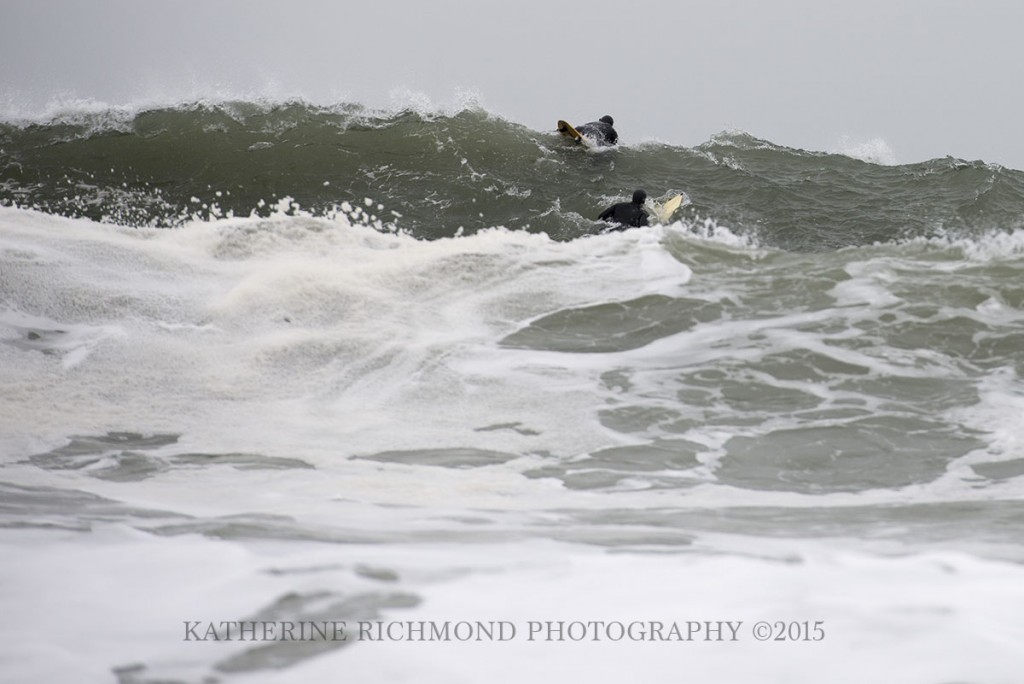 Paddling over the swell. Northern New England, Surfing photo