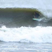 NIck Caruso. Barrel.. New Jersey, Surfing photo