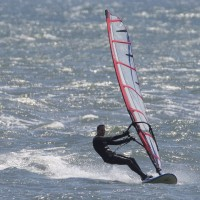 Wind Surfer at North Hampton. Northern New England, surfing photo