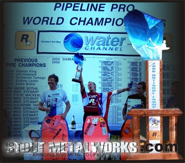Stout Metalworks Trophies 2006 Iba Pipeline Pro Dream