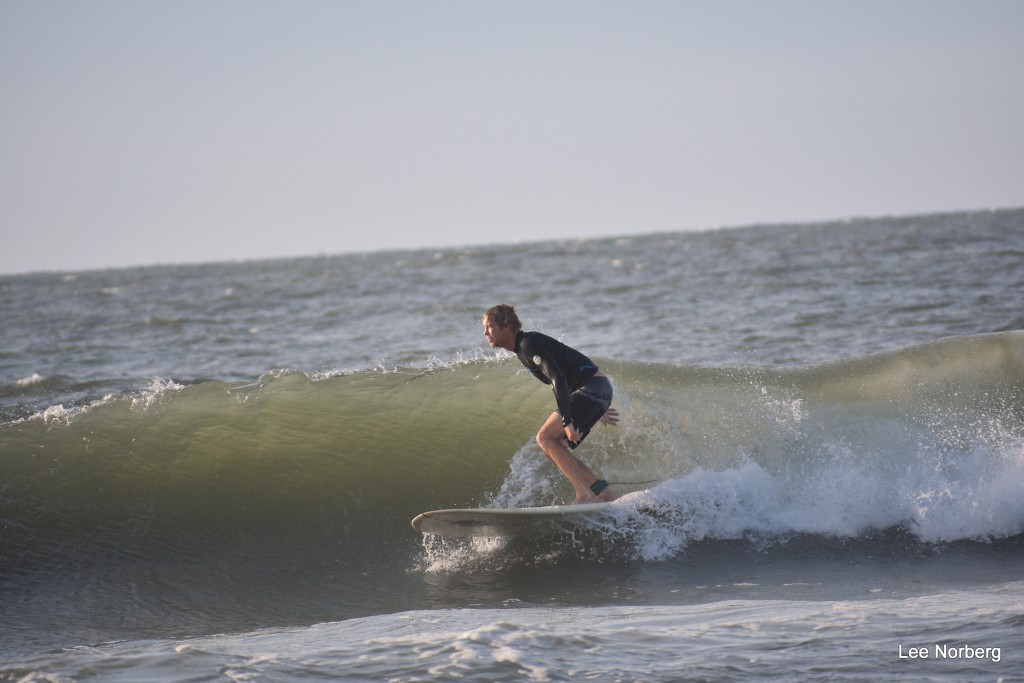 Surfer working the wave on 8/8/2017.. South Carolina, Surfing photo