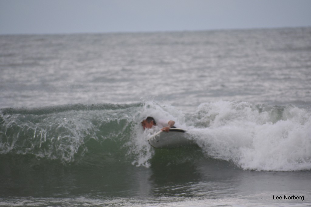 Body Boarder rides tn the Curl.