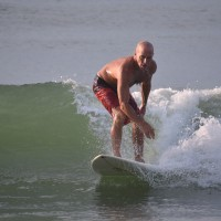 Surfer Wes works a Wave.. South Carolina, Surfing photo