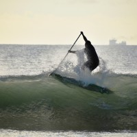 Local Paddle Board and Surfer Don Ward works hard to