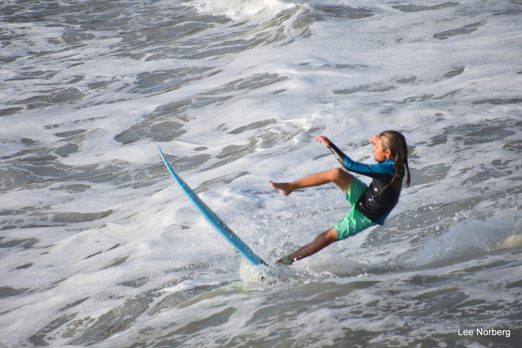 Look like wipe-out is coming.. South Carolina, Surfing photo