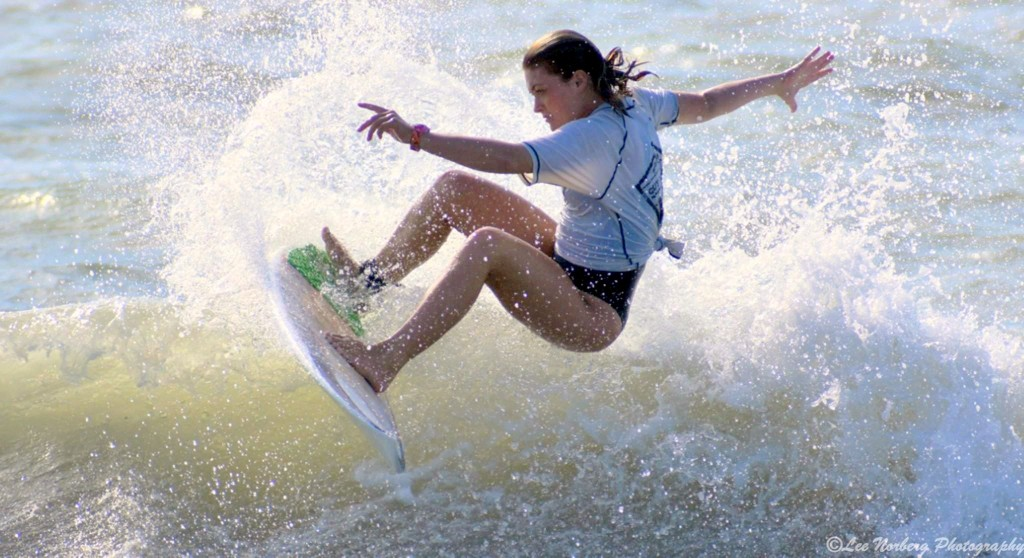 Surfer Bree Labiak in competition at The Guy Daniels
