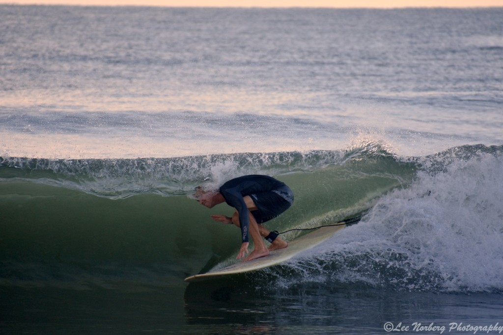 Long Board Surfer Scott Nixon gets
